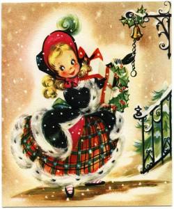 OldDesignShop_ChristmasGirlGreetingCard-250x300